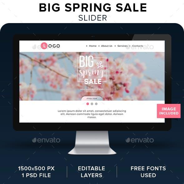 Big Spring Sale Slider