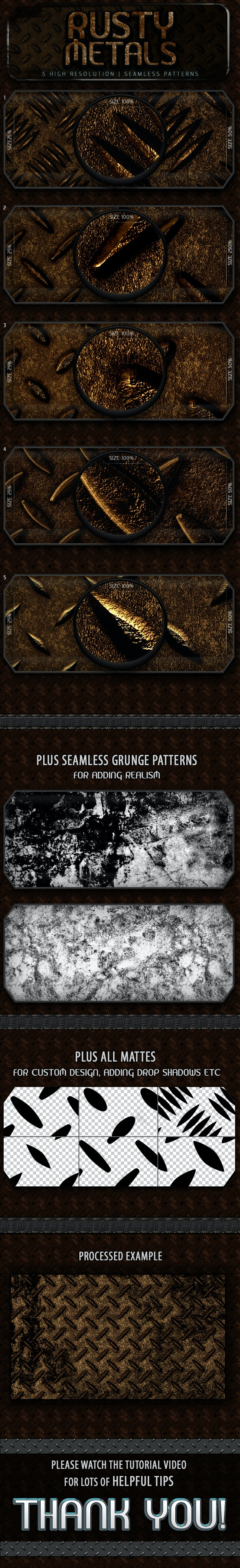 Rusty Metal Patterns - Urban Textures / Fills / Patterns
