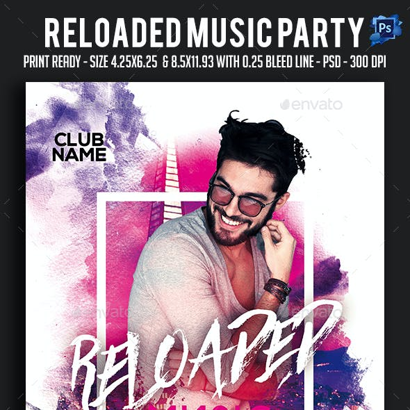 Reloaded Music Party Flyer