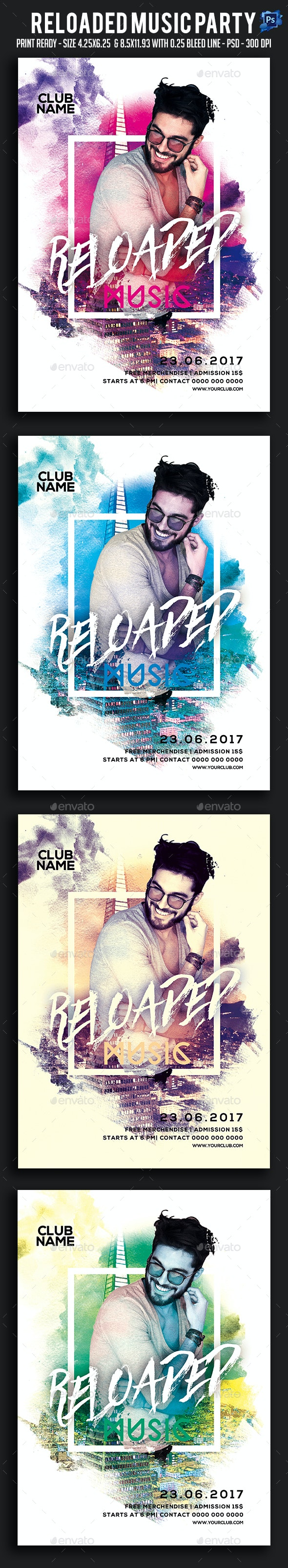 Reloaded Music Party Flyer - Clubs & Parties Events