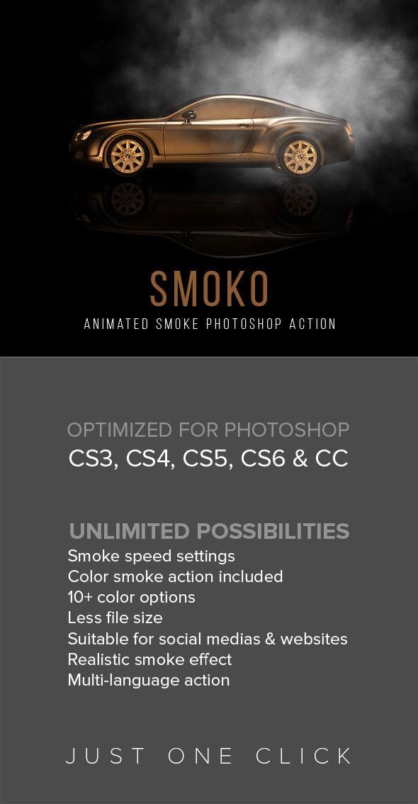 Gif Animated Smoko Photoshop Action - Actions Photoshop