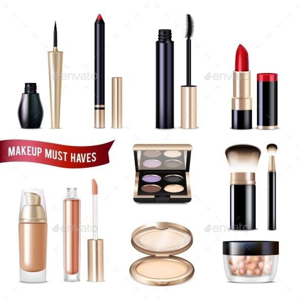 Makeup Items Realistic Set