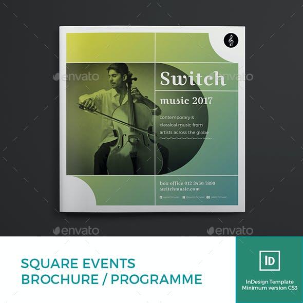 Square Events Brochure / Programme