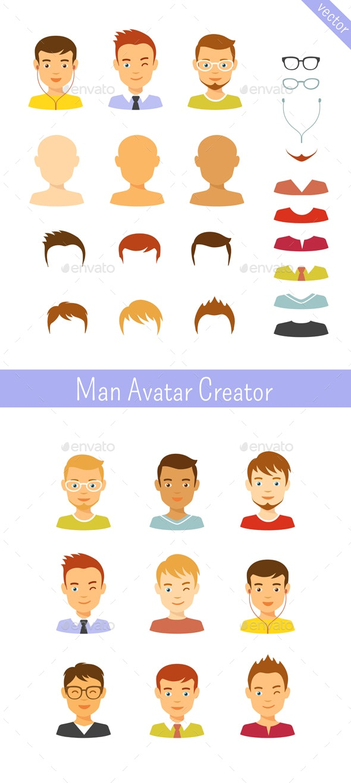 Man Avatars Creator - People Characters