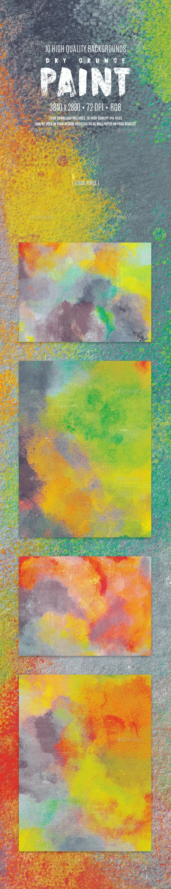 Dry Grunge Paint Backgrounds - Abstract Backgrounds