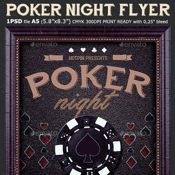 Poker Night Flyer Template