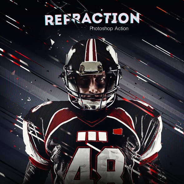 Refraction Photoshop Action