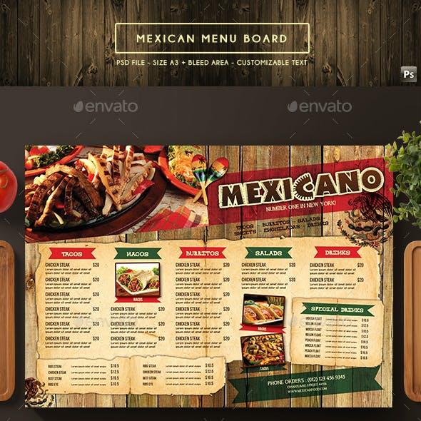 Mexican Menu Board