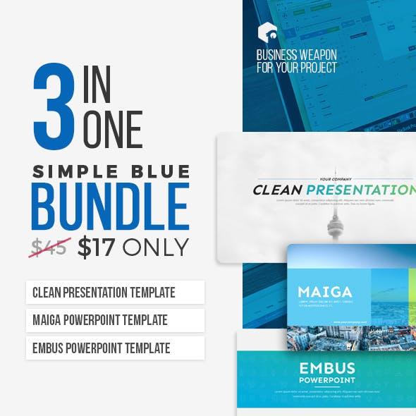 3 in 1 - Simple Blue Bundle