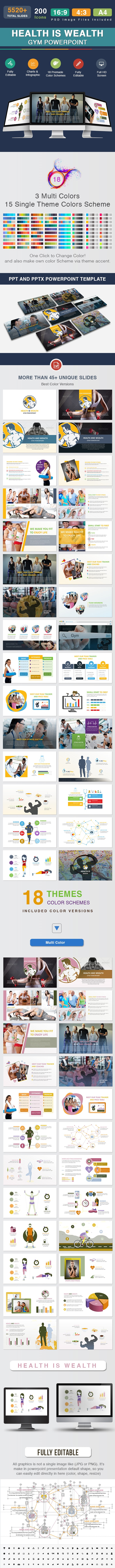 Health Is Wealth - Gym Powerpoint - Creative PowerPoint Templates