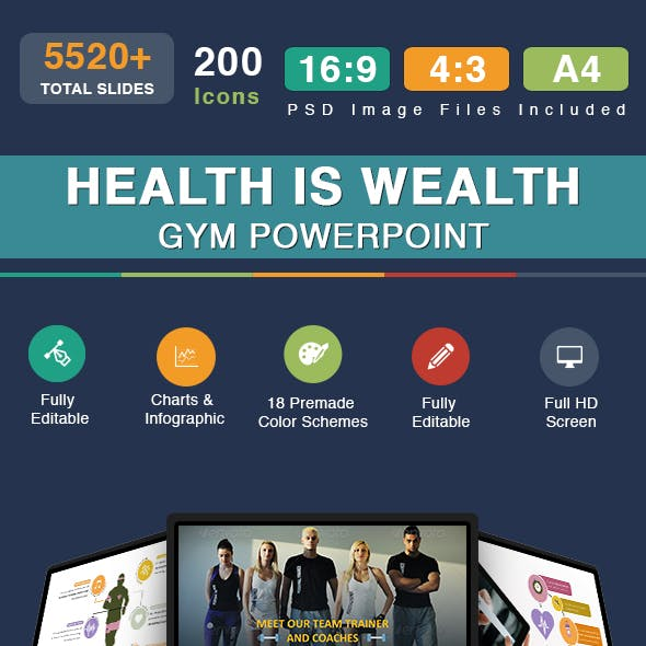 Health Is Wealth - Gym Powerpoint