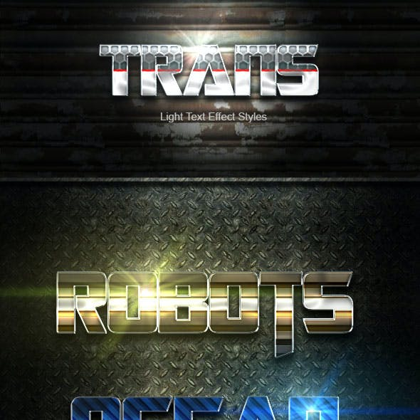 Trans Text Effect V01
