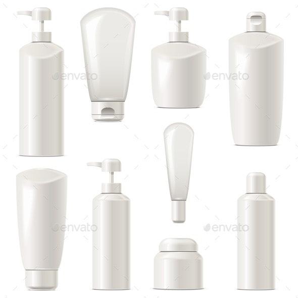 Vector Cosmetic Packaging Icons Set 7 - Health/Medicine Conceptual