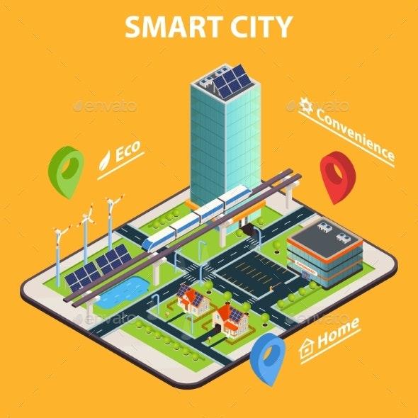 Smart City Tablet Concept - Technology Conceptual