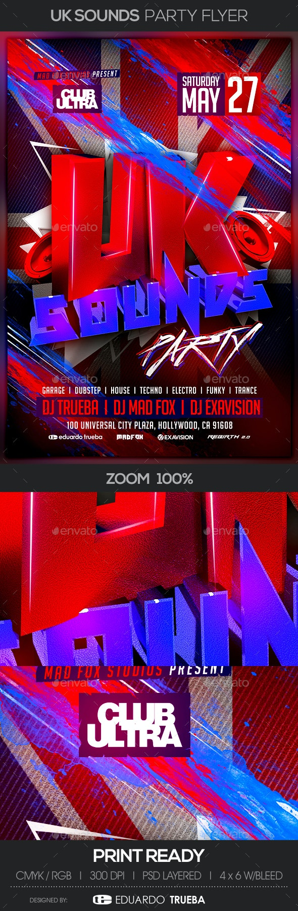 UK Sounds Party Flyer - Clubs & Parties Events