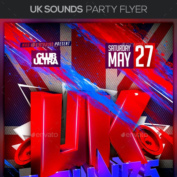 UK Sounds Party Flyer