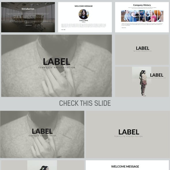 LABEL Power Point Template