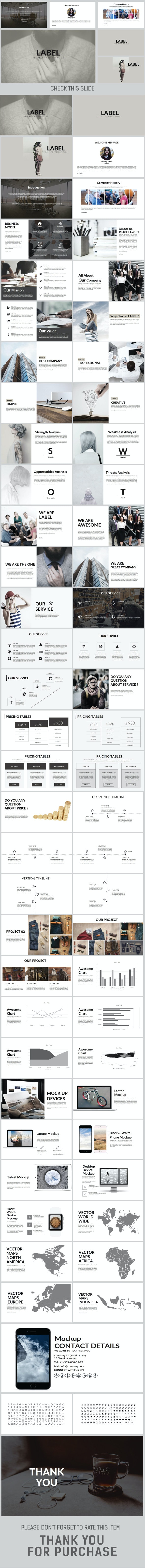 LABEL Keynote Template - Creative Keynote Templates