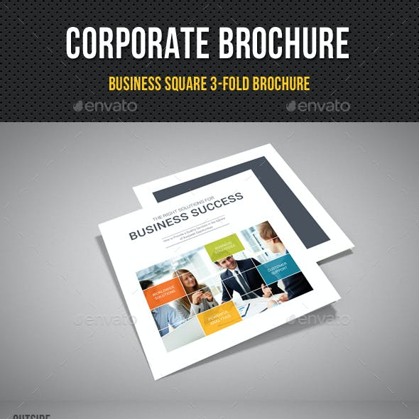 Corporate Business Square 3-Fold Brochure V08
