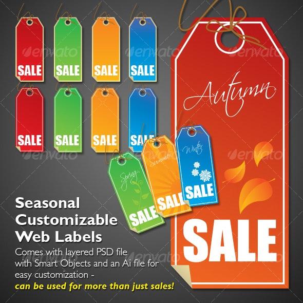 Seasonal Web Labels - Miscellaneous Web Elements