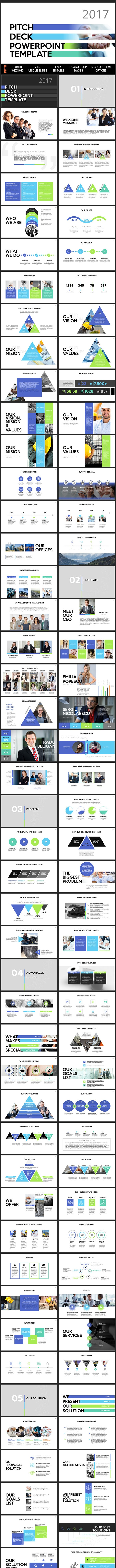 2017 PITCH DECK Powerpoint Presentation Template - PowerPoint Templates Presentation Templates