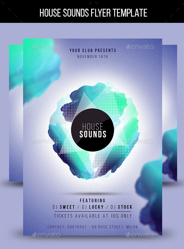House Sounds Flyer Template - Clubs & Parties Events