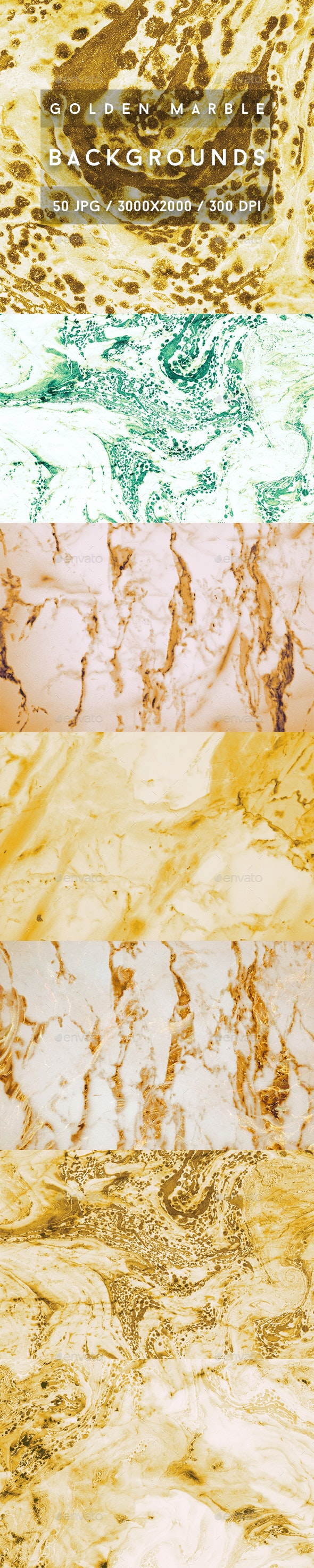 50 Golden Marble Backgrounds - Abstract Backgrounds