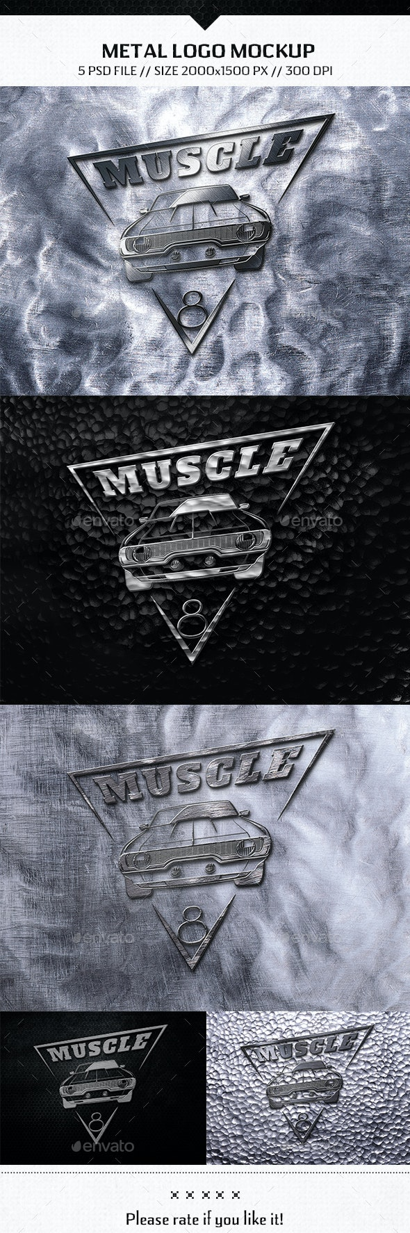 Metal Logo Mockup - Product Mock-Ups Graphics