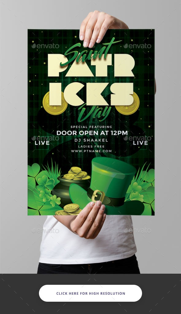 St Patrick Day Flyer - Clubs & Parties Events