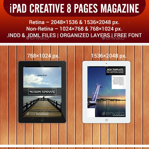 iPad Tablet Magazine 8 Pages