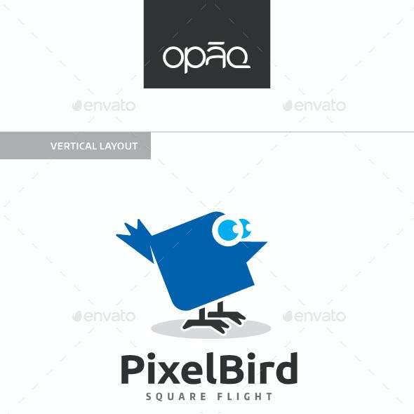 Pixel Bird Logo