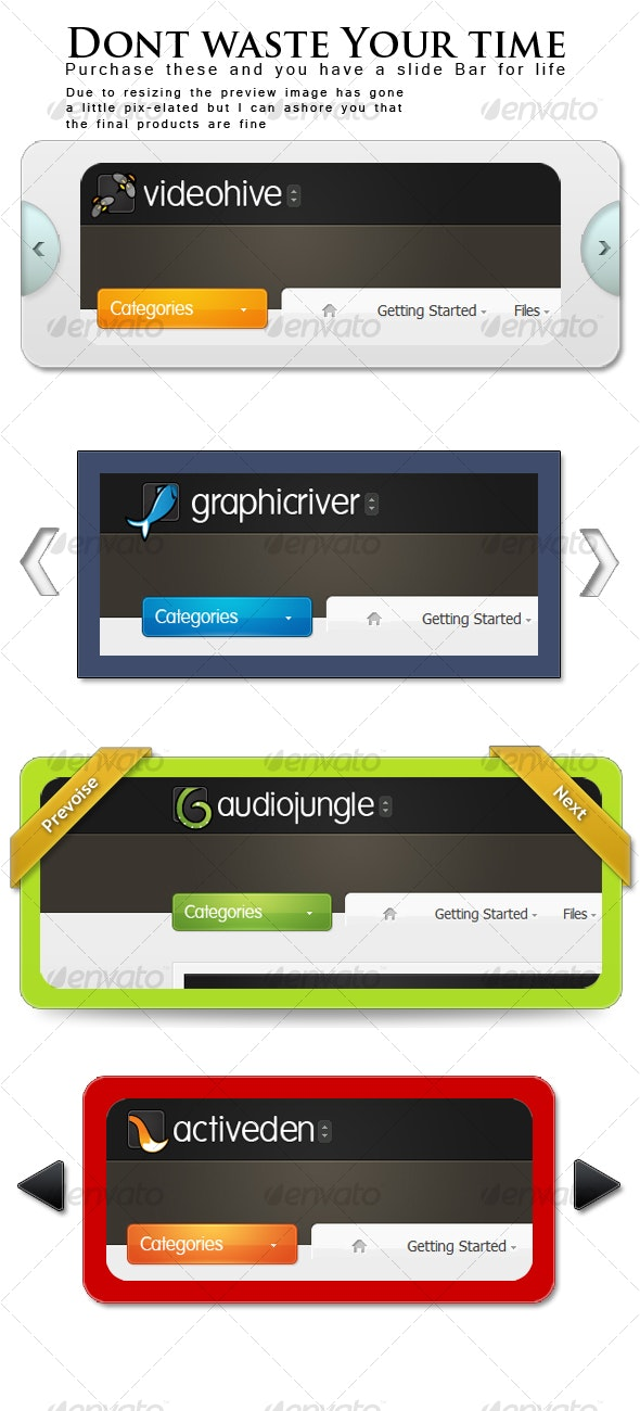 Website - image sliders - Web Elements