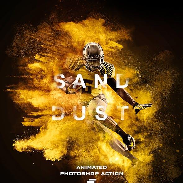 Gif Animated Sand Dust / Powder Explosion Photoshop Action