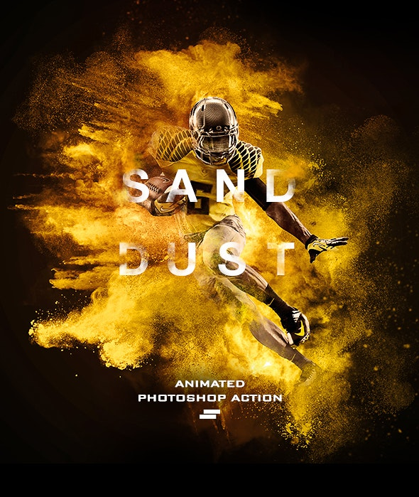 Gif Animated Sand Dust / Powder Explosion Photoshop Action - Photo Effects Actions