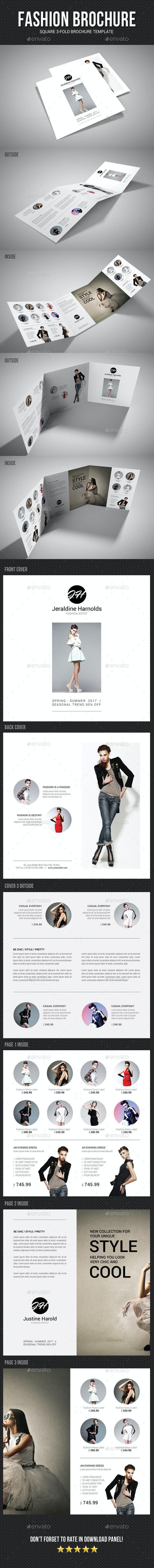 Square Tri-Fold Fashion Brochure 02 - Catalogs Brochures