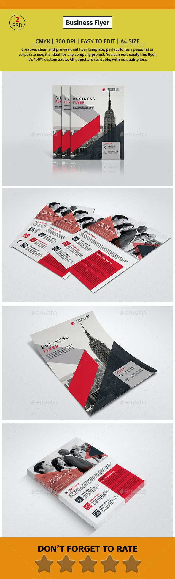 A4 Corporate Business Flyer #7 - Corporate Flyers