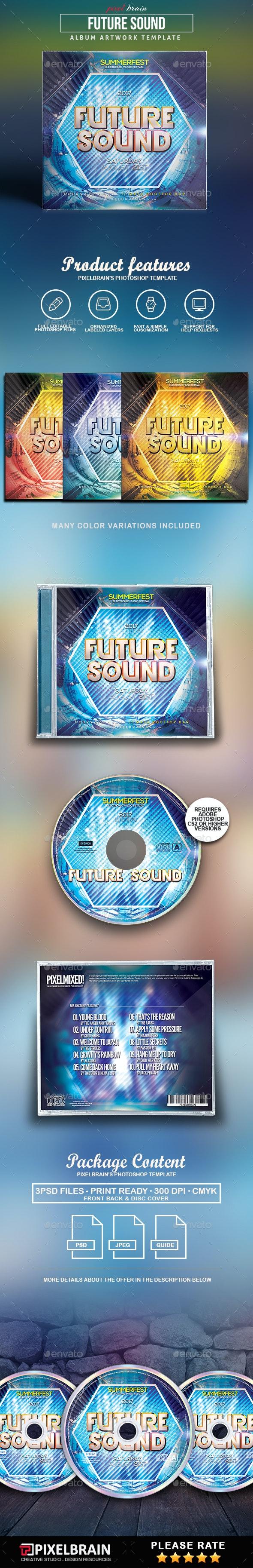 Future Sounds CD Cover Artwork - CD & DVD Artwork Print Templates