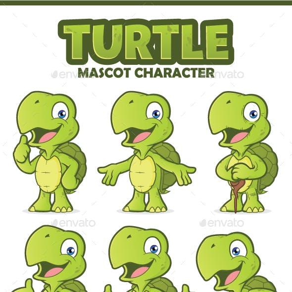 Turtle Mascot Character