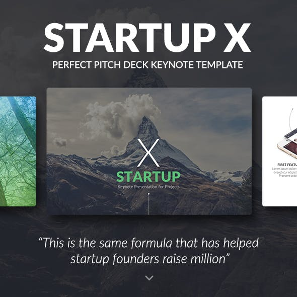 Startup X – Perfect Pitch Deck Keynote Template [Updated]