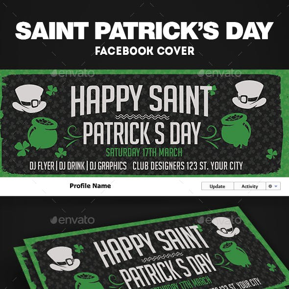 St. Patrick Facebook Cover Template