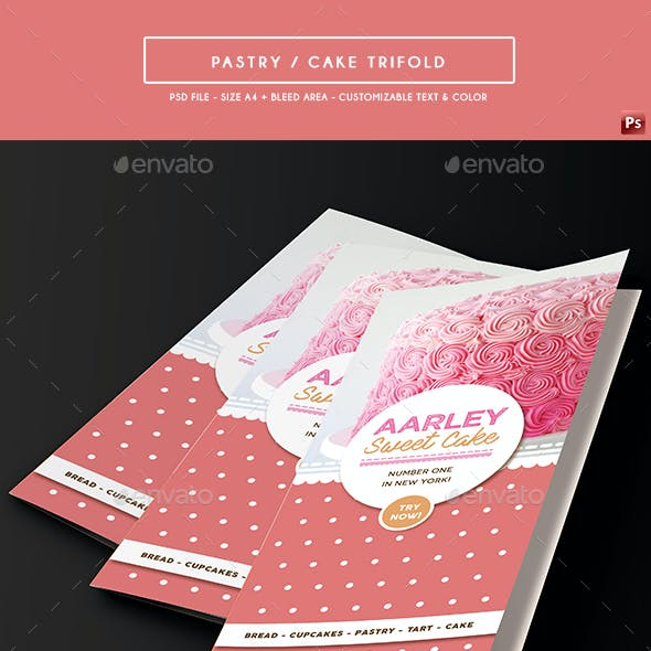 Pastry / Cake Trifold Menu