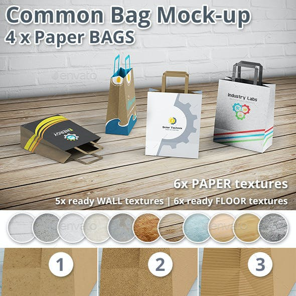 Paper Bag Mockup - Shopping Bag