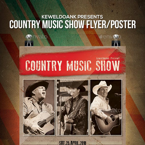 Country Music Show Flyer / Poster