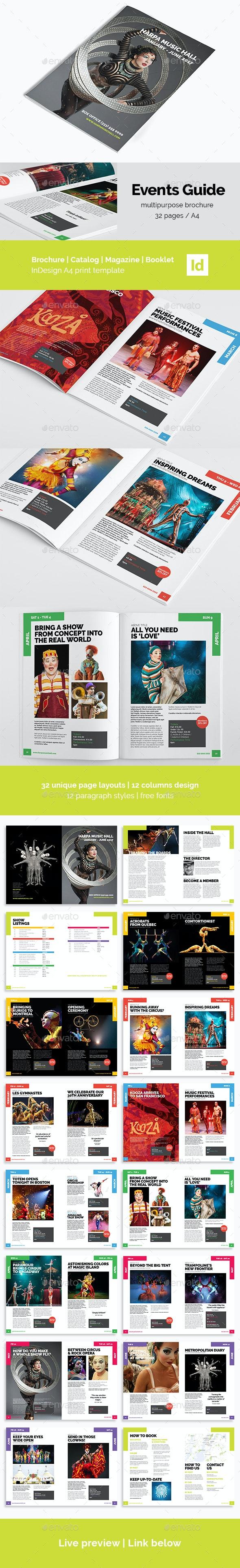 Event Guide | Creative Brochure - Magazines Print Templates