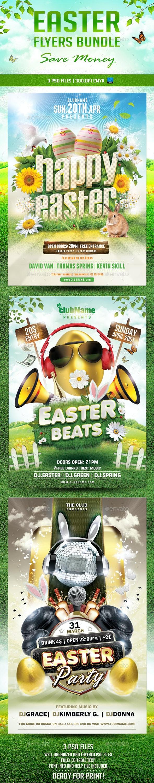 Easter Flyers Bundle - Holidays Events