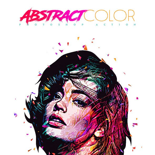 Abstract Color Photoshop Action