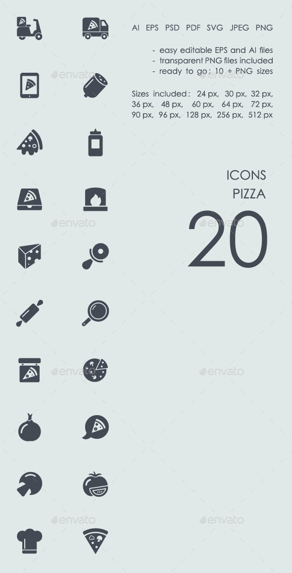 Pizza icons - Food Objects