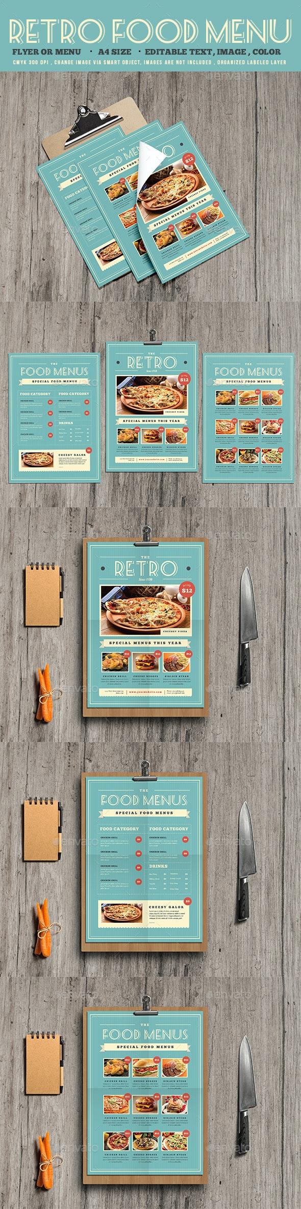Retro Food Menu Flyer - Restaurant Flyers