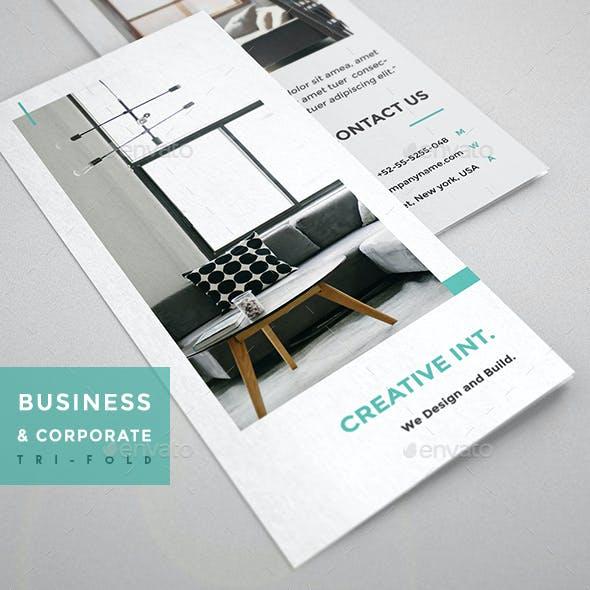 Interior Design Tri-Fold - Brochure