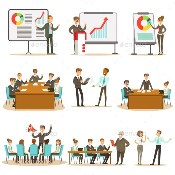 Managers and Office Workers on Business Training